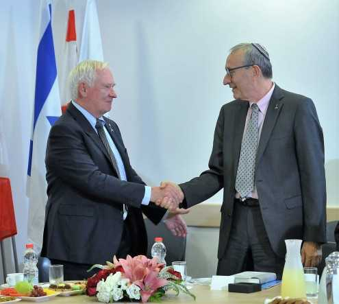 Canada's Governor General Visits Hebrew University's Faculty of Medicine, Mrs. Johnston Visits Early Childhood Programs