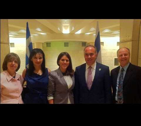 Greek Minister of Education Meets With  Hebrew University–Hadassah School of Dental Medicine